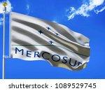 mercosur flag silk waving flag... | Shutterstock . vector #1089529745