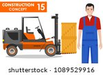 worker concept. detailed... | Shutterstock .eps vector #1089529916