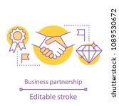 partnership concept icon.... | Shutterstock .eps vector #1089530672