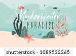 hand drawn vector abstract... | Shutterstock .eps vector #1089532265