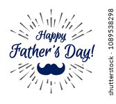 happy fathers day modern... | Shutterstock .eps vector #1089538298
