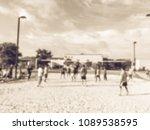 vintage blurred motion... | Shutterstock . vector #1089538595