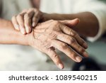 close up hands of senior... | Shutterstock . vector #1089540215
