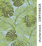 trendy tropical background with ... | Shutterstock .eps vector #1089548828