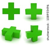 collection of green plus sign... | Shutterstock . vector #108955496