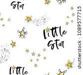 baby cute sky seamless pattern... | Shutterstock .eps vector #1089577715