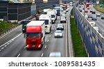 six lane controlled access...   Shutterstock . vector #1089581435
