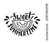 sweet summertime. inspirational ... | Shutterstock .eps vector #1089583598