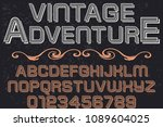 font handcrafted typeface... | Shutterstock .eps vector #1089604025