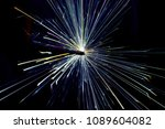 full color electric sparks. | Shutterstock . vector #1089604082