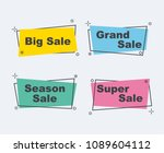 collection of sale discount...   Shutterstock .eps vector #1089604112
