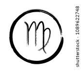 black virgo horoscope icon ... | Shutterstock .eps vector #1089622748