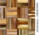 parquet floor texture  3d...   Shutterstock . vector #1089625406