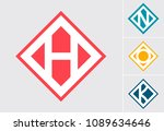 illustrated letters h n o p ... | Shutterstock .eps vector #1089634646