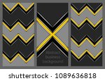 set of business flyers | Shutterstock .eps vector #1089636818