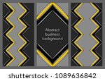 set of business flyers | Shutterstock .eps vector #1089636842