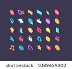 isometric colorful web design... | Shutterstock .eps vector #1089639302