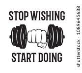 sport inspiring workout and... | Shutterstock .eps vector #1089645638