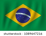 vector of ripple brazil flag | Shutterstock .eps vector #1089647216