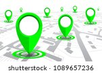 green gps navigator location on ... | Shutterstock .eps vector #1089657236