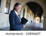 a pretty african american woman ... | Shutterstock . vector #10896607