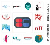 set of 13 simple editable icons ... | Shutterstock .eps vector #1089662738