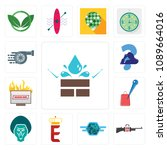 set of 13 simple editable icons ...   Shutterstock .eps vector #1089664016