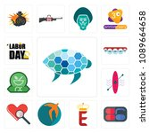 set of 13 simple editable icons ... | Shutterstock .eps vector #1089664658