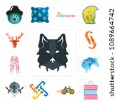 set of 13 simple editable icons ... | Shutterstock .eps vector #1089664742