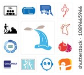 set of 13 simple editable icons ...   Shutterstock .eps vector #1089665966