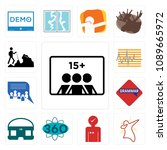 set of 13 simple editable icons ...   Shutterstock .eps vector #1089665972