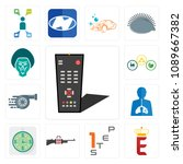 set of 13 simple editable icons ... | Shutterstock .eps vector #1089667382