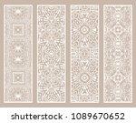 decorative doodle borders  hand ... | Shutterstock .eps vector #1089670652