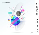 vector astract design with... | Shutterstock .eps vector #1089682028