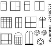 windows vector set | Shutterstock .eps vector #1089687305