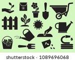 gardening icons. black... | Shutterstock .eps vector #1089696068