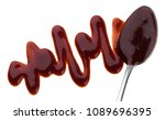 barbecue sauce with spoon... | Shutterstock . vector #1089696395