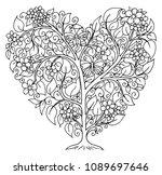 vector illustration zentangl. a ...   Shutterstock .eps vector #1089697646