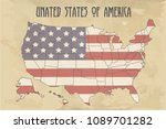 united states of america map... | Shutterstock .eps vector #1089701282