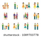 family icon set. family with... | Shutterstock .eps vector #1089703778