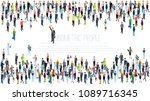 people crowd. isometric vector... | Shutterstock .eps vector #1089716345