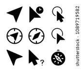 filled set of 9 cursor icons... | Shutterstock .eps vector #1089719582