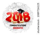 congratulations graduates class ... | Shutterstock .eps vector #1089726125