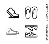outline set of 4 shoes icons... | Shutterstock .eps vector #1089726365
