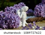 sleeping buddha with lilac | Shutterstock . vector #1089727622