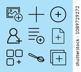 outline add icon set such as... | Shutterstock .eps vector #1089729272