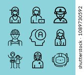 outline avatar icon set such as ... | Shutterstock .eps vector #1089730592