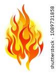 vector fire design elements   Shutterstock .eps vector #1089731858