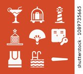 filled set of 9 holidays icons...   Shutterstock .eps vector #1089735665