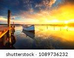 Small Dock And Boat At The Lake ...
